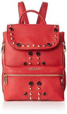 Guess Womens Alanis Small Backpack, Red (Red Multi), Size: One Size Shoppers And Shoulder Bags For Women GUESS Colour Red. Lining textile. Outside synthetic. Construction Type: Cosido. Made in China. (Barcode EAN = 7613349696082). http://www.comparestoreprices.co.uk/december-2016-5/guess-womens-alanis-small-backpack-red-red-multi--size-one-size.asp