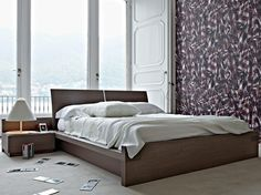 Oak double bed AVALON Beds Collection by GIELLESSE