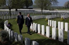 French President Francois Hollande, right, and Canadian Prime Minister Justin Trudeau walk in the Canadian WWI military cemetery in Vimy, northern France before the ceremony Pm Trudeau, Justin Trudeau, Visit Canada, O Canada, Battle Of Passchendaele, Military Cemetery, I Am Canadian, French President, Duke Of Cambridge