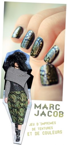 MARC JACOB INSPIRATION -- but i could never do this on my own. cute though!