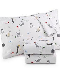 Martha Stewart Collection Novelty Flannel Sheet Set - Sheets - Bed & Bath - Macy's