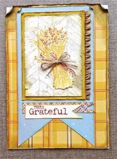 Stampin' Up! stamp set Truly Grateful, ruffle stretch trim ribbon, sweater weather designer series paper