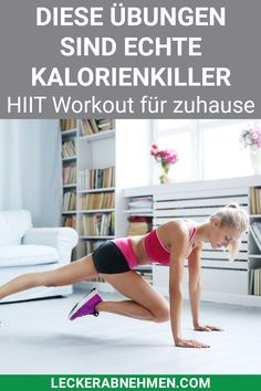 The 10 best HIIT exercises - with a training plan-Die 10 besten HIIT Übungen – Mit Trainingsplan Here we show you 10 HIIT exercises that are perfect for losing weight. You will also find an effective HIIT training plan for men and women here. Fitness Workouts, Fitness Motivation, Fitness Goals, At Home Workouts, Health Fitness, Yoga Fitness, Workout Dvds, Hip Workout, Workout Videos