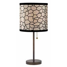 Design Classics Lighting Bronze Table Lamp with Pull-Chain and Honeycomb Drum Shade   1900-604 SH9501   Destination Lighting