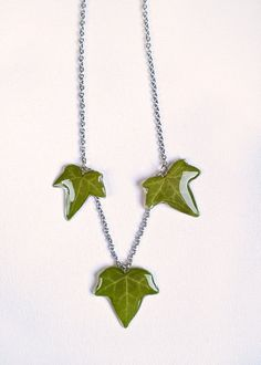 Small ivy leaf handmade pendant resin jewelry ivy leaf ivy leaf necklace real leaf pendants resin ivy by metanoiacharm mozeypictures Image collections