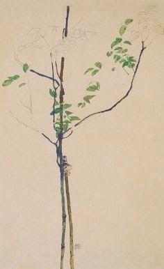 Young Tree - Egon Schiele - Oil Painting Reproductions and Prints Gustav Klimt, Egon Schiele Landscape, Botanical Drawings, Pablo Picasso, Gouache, Oeuvre D'art, Art Paintings, Painting & Drawing, Wall Art Prints