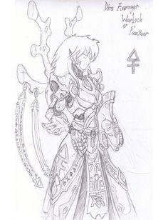 Dire avengers warlock/farseer by razorsteel on DeviantArt Warhammer Eldar, Character Art, Character Design, Dark Eldar, The Grim, Starcraft, Elves, Game Art, Avengers