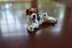 Royal Doulton HN 1101 Puppy Dog Panting Jack Russell Rare Excellent Cond Vintage