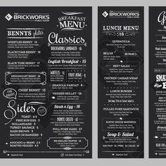 Create a Gastro Pub Menu by istasik Food Menu Design, Pub Design, Restaurant Menu Design, Corporate Design, Chalkboard Restaurant, Menu Layout, Menu Flyer, Fast Casual Restaurant, Hotel Food