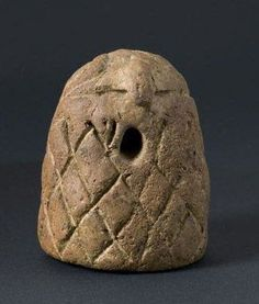Might be the earliest representation of an Omphalos (religious stone artifact) - Vinca Culture (Old Europe), 5000-3000 BCE - Sofia Museum, Bulgaria