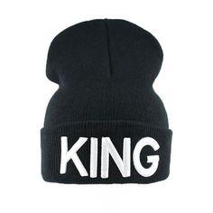 24b7b71a9bc 1PC KING QUEEN Embroidered Snapback Caps Lover Men Women Baseball Cap Black  Hip Hop Cap Snapback