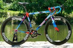 This bicycle is beautiful enough to be featured on Bike Showcase: Festka Road Bike Paint Bike, Bicycle Painting, Road Cycling, Cycling Bikes, Fixed Gear, Ironman, Speed Bike, Bike Parking, Bicycle Race