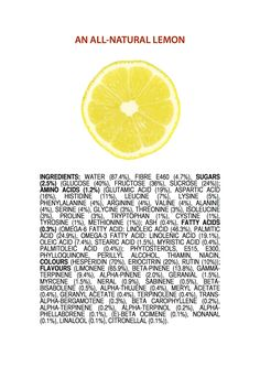 ingredients of a Lemon ENGLISH jameskennedymonash.wordpress.com chemistry infographic
