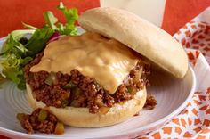 Easy Cheesy Barbecued Sloppy Joes Recipe - Kraft Recipes