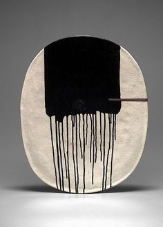 Jun Kaneko. Interesting glaze pattern