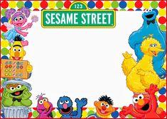Elmo And Sesame Street Birthday Party Invitation