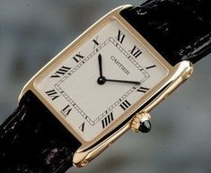 The Cartier Tank. On my luxury item bucket list. Owned by Princess Diana, Jackie O, etc. so you know it's pure class Amazing ladies luxury watch, or high end ladies watch, such as Omega - CLICK VISIT link above to see more - exclusive watches for women Cool Watches, Watches For Men, Cartier Watches Women, Ladies Watches, Women's Watches, Watches Online, Tank Watch, Cartier Santos, Cartier Tank