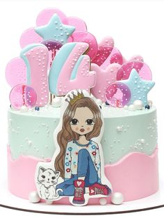 12th Birthday Cake, Cute Birthday Cakes, Food Design, Party, Kids, Cake, Ice Cream, Recipes, Young Children