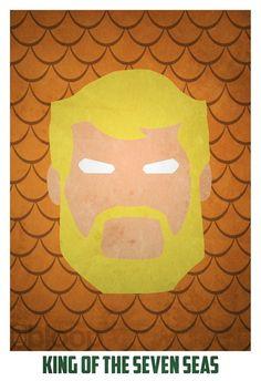 Minimalist Superhero Posters /// Aquaman