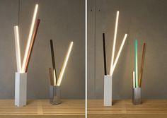 Stickbulb lamp Vase series by RUX