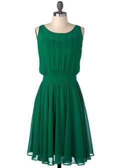Grecian Green Dress