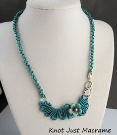 Freeform micro macrame necklace by Sherri Stokey  Note: ADORE this necklace.