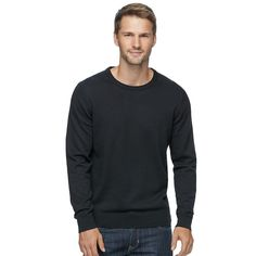 Men's SONOMA Goods for Life™ Coolmax Classic-Fit Crewneck Sweater, Size: Medium, Oxford