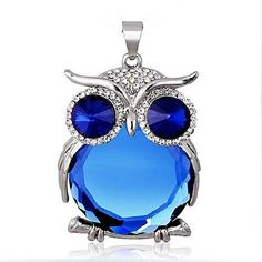Crystal Owl Long Necklace & Chain - FREE SHIPPING!