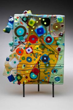 Fused glass art... I haven't gotten mine back yet, but I doubt it looks this good...