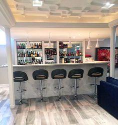 Cool Modern Home Basement Bar Designs