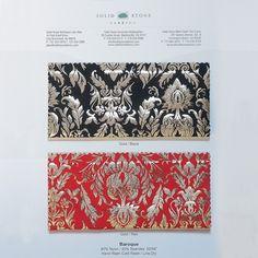 USA Baroque - Color Card   Solid Stone Fabrics