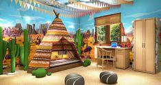 pokój dziecięcy wzór indiański