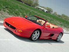 Ferrari 355 Spyder. A semi-realistic dream. I still like it better than many newer Ferraris.