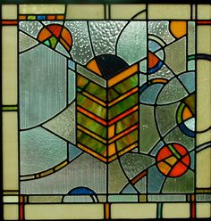 Original stained glass panel, traditional lead glass method