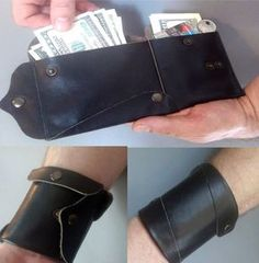 Idea Gifts for Him Men Leather wrist wallet by Homespirits on Etsy