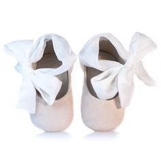 Beige leather and silk baby shoes Baby Shoes Girl New Baby