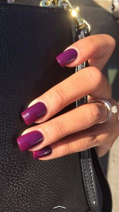 40 glitter gel nail designs for short nails for spring 2019 Classy Acrylic Nails, Acrylic Nail Set, Purple Acrylic Nails, Acrylic Nail Shapes, Square Acrylic Nails, Classy Nails, Purple Nails, Cute Nails, Pretty Nails