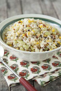 Paula Deen Hoppin' John Salad  filling, easy, healthy and cool for summer