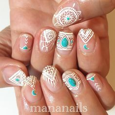 Nov 2018 - Nails and hands care, cool designs and some DIY. See more ideas about Nails, Nail designs and Nail art designs. Bohemian Nails, Hippie Nails, Boho, Hippie Nail Art, Bohemian Fashion, Gorgeous Nails, Love Nails, Pretty Nails, Nail Arts