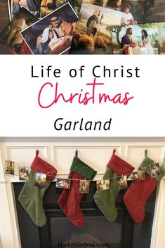 Life of Christ Christmas Garland a simple way to bring the savoir into your Christmas decorations. This is perfect for a Christ Centered Christmas.