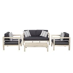 Buy John Lewis Atlantic 4-Seater Lounge Set, FSC-Certified (Acacia), Grey Online at johnlewis.com
