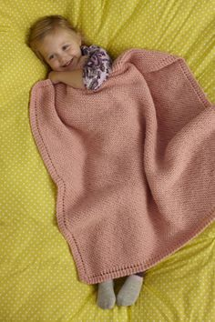 Free Knitting Pattern 90413AD Sweet and Soft Baby Throw : Lion Brand Yarn Company