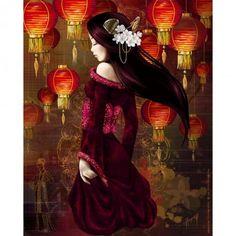 image pour tableaux 3D GK2430090 - 24x30 - Geisha