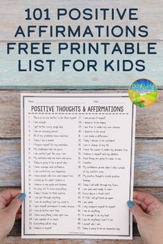 101 Positive Affirmations for Kids - How To Build Confidence Positive Affirmations For Kids, Positive Thoughts, Quotes Positive, Self Esteem Activities, Activities For Teens, Words Of Affirmation, Social Skills, Social Work, Lessons For Kids