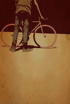 Fixie Art  Adams Carvalho bicycle