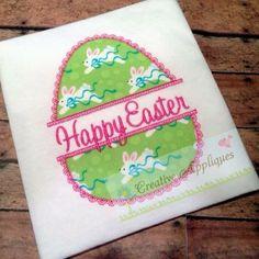 egg split applique embroidery design REPIN THIS then click here: www.creativeappliques.com