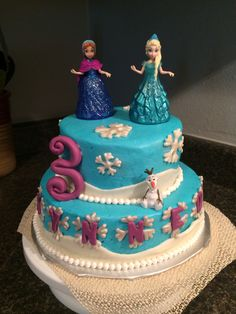 Kynnedi's Frozen Birthday Cake!!!