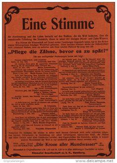 Original-Werbung/Inserat/ Anzeige 1902 - 1/1 SEITE :  STOMATOL MUNDWASSER - ca. 190 x 280 mm