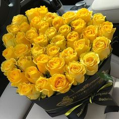 Uploaded by Find images and videos about flowers, yellow and rose on We Heart It - the app to get lost in what you love. Flower Box Gift, Flower Boxes, My Flower, Amazing Flowers, Beautiful Roses, Beautiful Flowers, White Roses, Yellow Flowers, Roses Only
