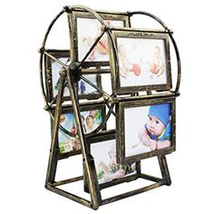 Baby Photo Frame,12 Photos 5 Inch Ferris Wheel Windmill Shape Picture Frame,Table Desk Decoration,Baby Shower Gift,Home Art Decor